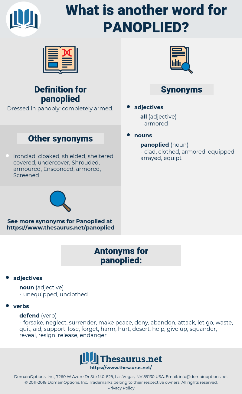 panoplied, synonym panoplied, another word for panoplied, words like panoplied, thesaurus panoplied