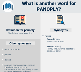panoply, synonym panoply, another word for panoply, words like panoply, thesaurus panoply
