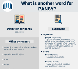 pansy, synonym pansy, another word for pansy, words like pansy, thesaurus pansy