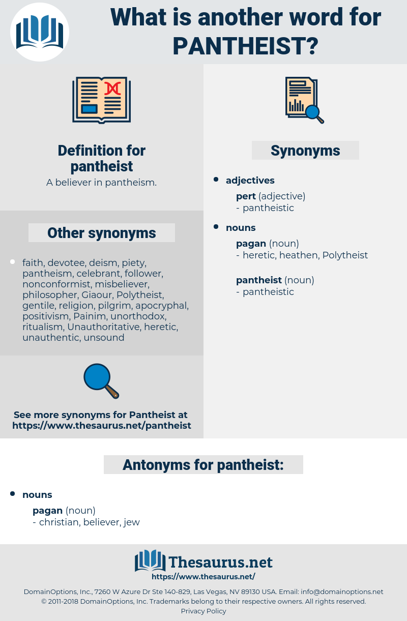 pantheist, synonym pantheist, another word for pantheist, words like pantheist, thesaurus pantheist