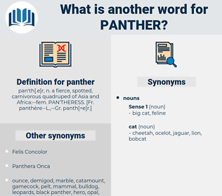 panther, synonym panther, another word for panther, words like panther, thesaurus panther