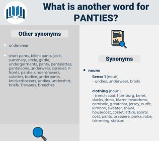 panties, synonym panties, another word for panties, words like panties, thesaurus panties