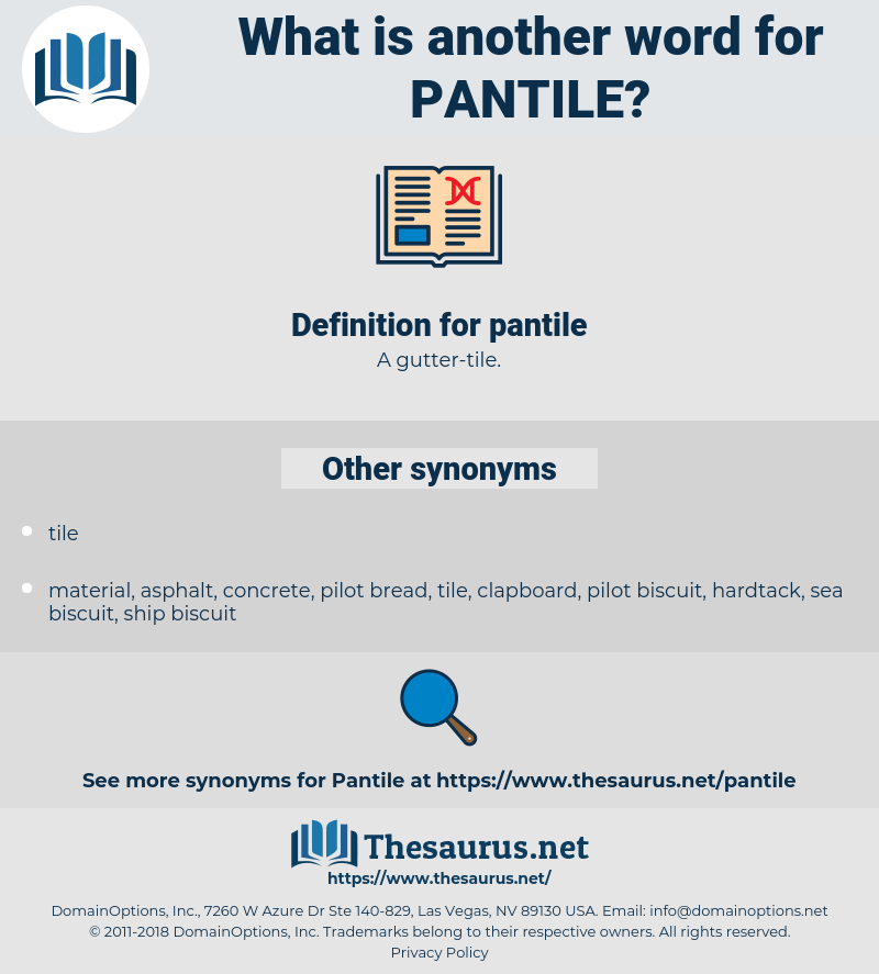 pantile, synonym pantile, another word for pantile, words like pantile, thesaurus pantile