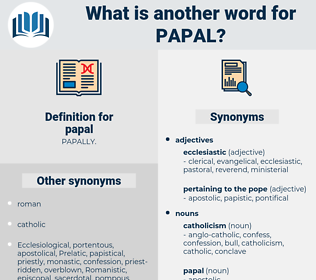 papal, synonym papal, another word for papal, words like papal, thesaurus papal