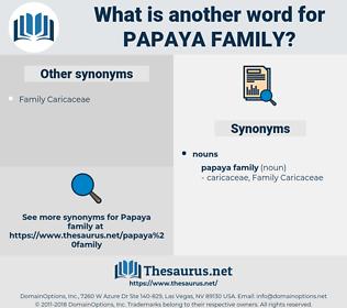 papaya family, synonym papaya family, another word for papaya family, words like papaya family, thesaurus papaya family