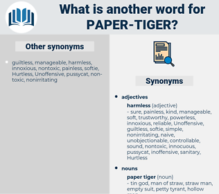 paper tiger, synonym paper tiger, another word for paper tiger, words like paper tiger, thesaurus paper tiger