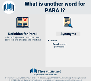Para I, synonym Para I, another word for Para I, words like Para I, thesaurus Para I