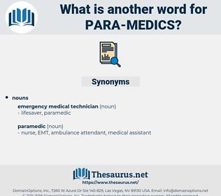 para medics, synonym para medics, another word for para medics, words like para medics, thesaurus para medics