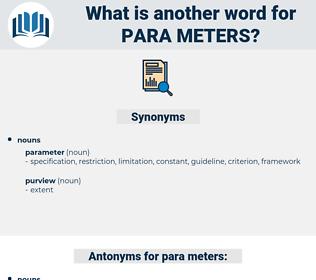 para meters, synonym para meters, another word for para meters, words like para meters, thesaurus para meters