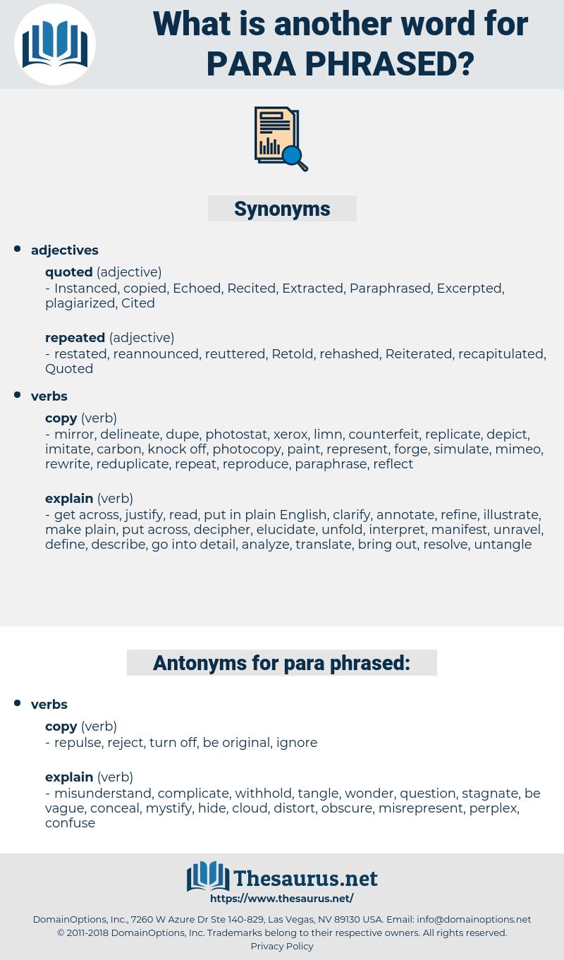 para phrased, synonym para phrased, another word for para phrased, words like para phrased, thesaurus para phrased