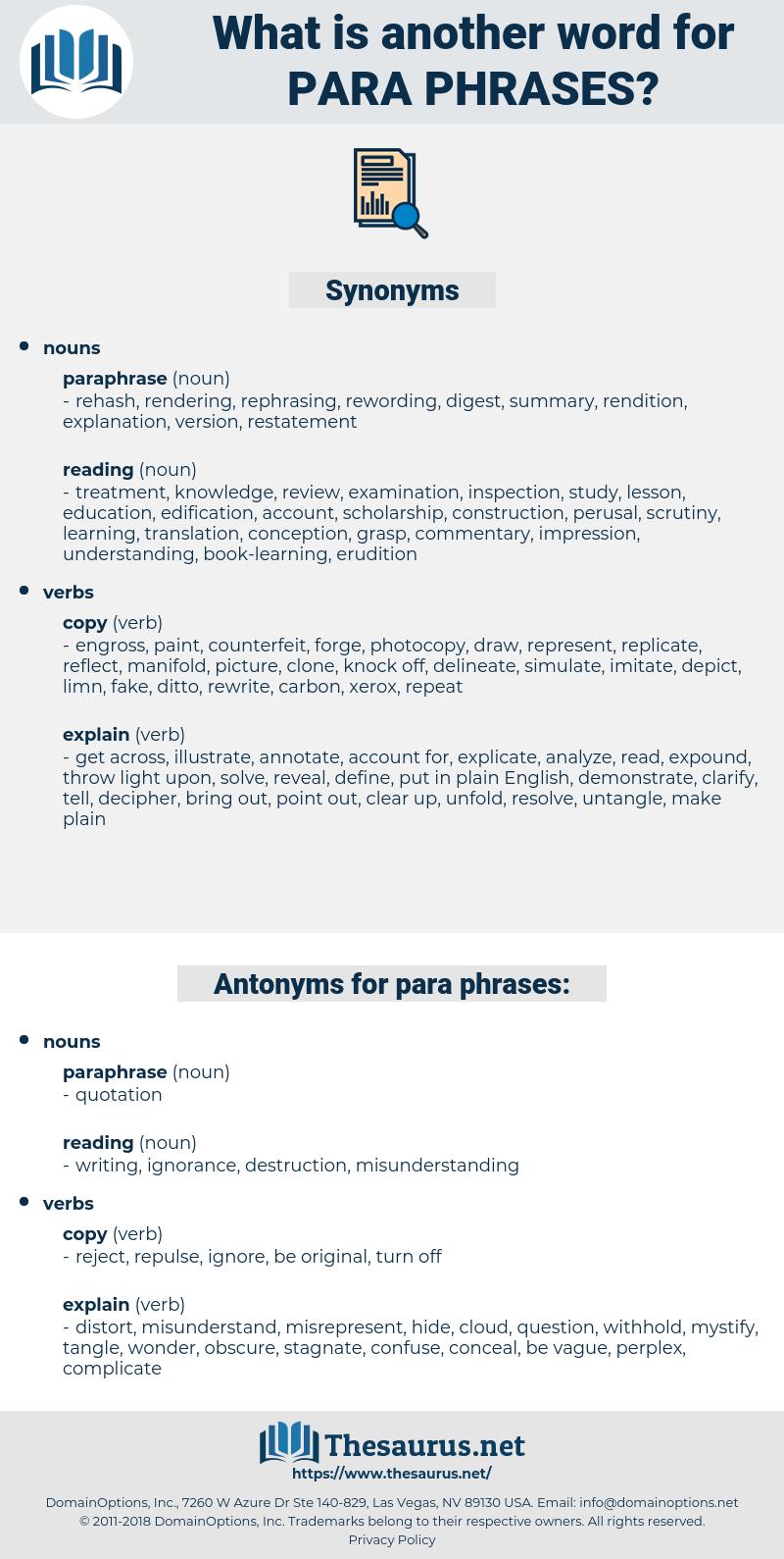 para phrases, synonym para phrases, another word for para phrases, words like para phrases, thesaurus para phrases