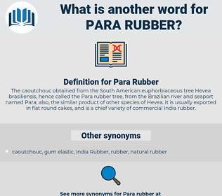 Para Rubber, synonym Para Rubber, another word for Para Rubber, words like Para Rubber, thesaurus Para Rubber