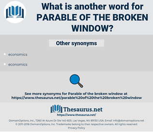 parable of the broken window, synonym parable of the broken window, another word for parable of the broken window, words like parable of the broken window, thesaurus parable of the broken window