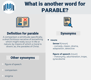 parable, synonym parable, another word for parable, words like parable, thesaurus parable