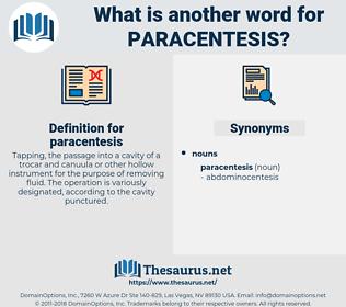 paracentesis, synonym paracentesis, another word for paracentesis, words like paracentesis, thesaurus paracentesis