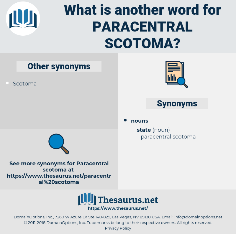 paracentral scotoma, synonym paracentral scotoma, another word for paracentral scotoma, words like paracentral scotoma, thesaurus paracentral scotoma