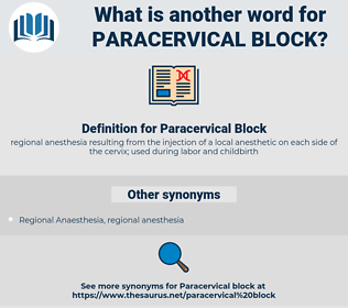 Paracervical Block, synonym Paracervical Block, another word for Paracervical Block, words like Paracervical Block, thesaurus Paracervical Block
