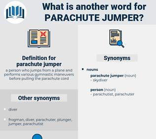 parachute jumper, synonym parachute jumper, another word for parachute jumper, words like parachute jumper, thesaurus parachute jumper