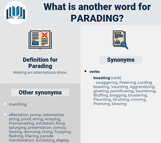Parading, synonym Parading, another word for Parading, words like Parading, thesaurus Parading
