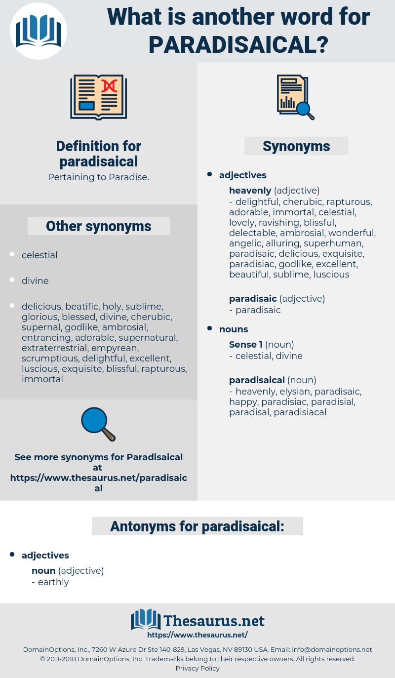 paradisaical, synonym paradisaical, another word for paradisaical, words like paradisaical, thesaurus paradisaical