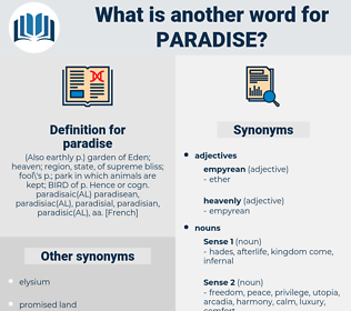 paradise, synonym paradise, another word for paradise, words like paradise, thesaurus paradise
