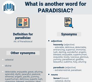 paradisiac, synonym paradisiac, another word for paradisiac, words like paradisiac, thesaurus paradisiac