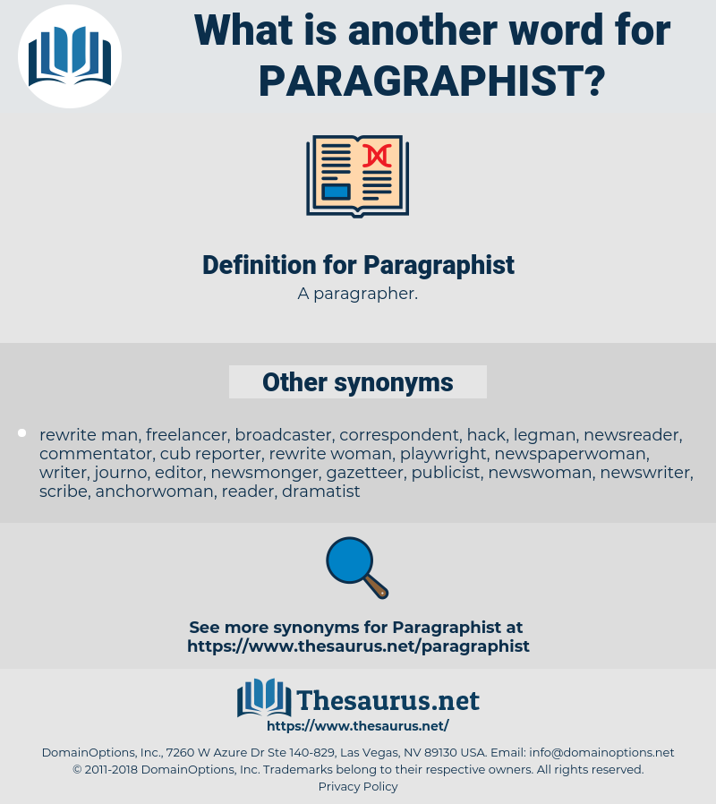 Paragraphist, synonym Paragraphist, another word for Paragraphist, words like Paragraphist, thesaurus Paragraphist
