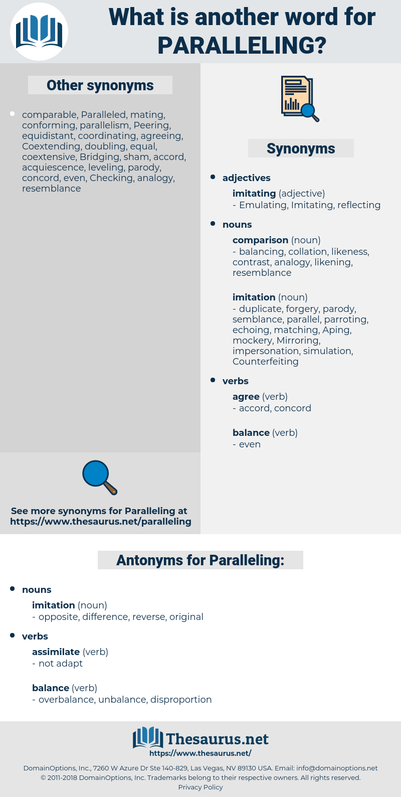Paralleling, synonym Paralleling, another word for Paralleling, words like Paralleling, thesaurus Paralleling