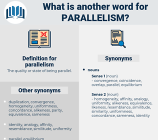 parallelism, synonym parallelism, another word for parallelism, words like parallelism, thesaurus parallelism