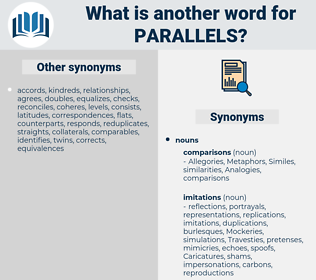 parallels, synonym parallels, another word for parallels, words like parallels, thesaurus parallels