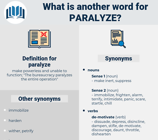 paralyze, synonym paralyze, another word for paralyze, words like paralyze, thesaurus paralyze