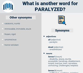 paralyzed, synonym paralyzed, another word for paralyzed, words like paralyzed, thesaurus paralyzed