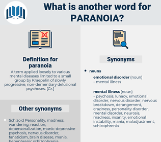 paranoia, synonym paranoia, another word for paranoia, words like paranoia, thesaurus paranoia