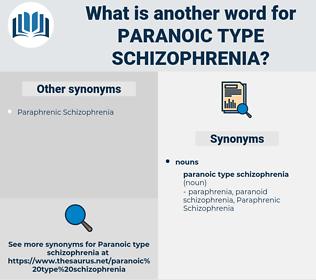 Paranoic Type Schizophrenia, synonym Paranoic Type Schizophrenia, another word for Paranoic Type Schizophrenia, words like Paranoic Type Schizophrenia, thesaurus Paranoic Type Schizophrenia