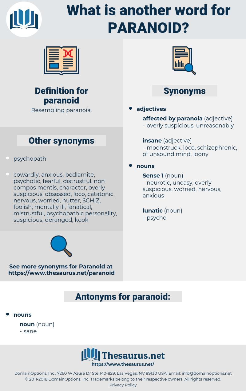 Paranoid definition