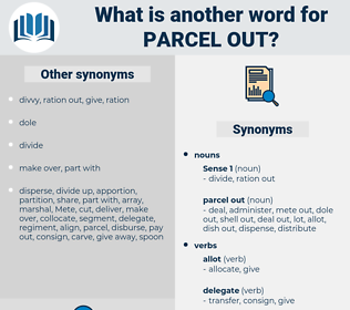 parcel out, synonym parcel out, another word for parcel out, words like parcel out, thesaurus parcel out