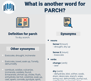 parch, synonym parch, another word for parch, words like parch, thesaurus parch