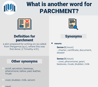 parchment, synonym parchment, another word for parchment, words like parchment, thesaurus parchment