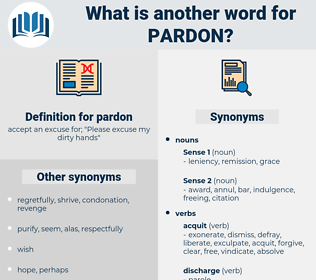 pardon, synonym pardon, another word for pardon, words like pardon, thesaurus pardon