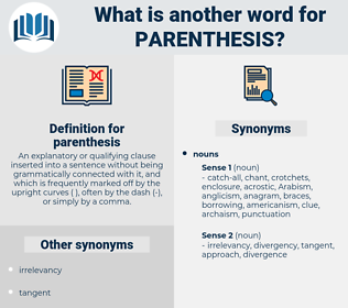 parenthesis, synonym parenthesis, another word for parenthesis, words like parenthesis, thesaurus parenthesis