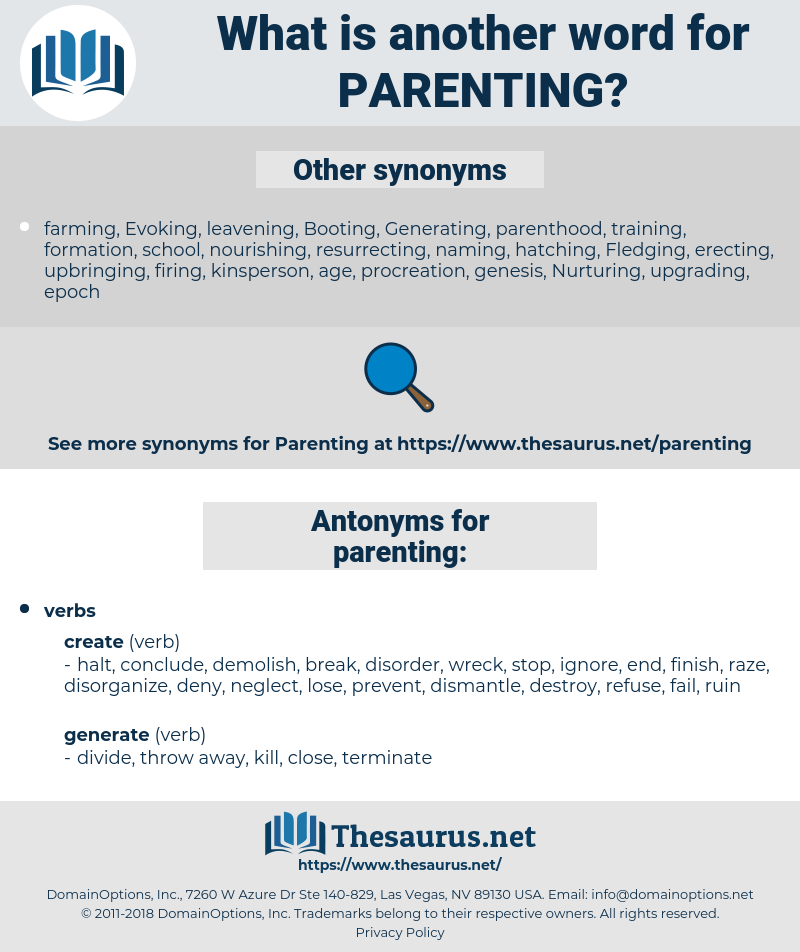 parenting, synonym parenting, another word for parenting, words like parenting, thesaurus parenting