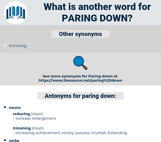 paring down, synonym paring down, another word for paring down, words like paring down, thesaurus paring down