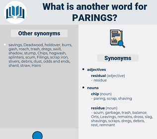parings, synonym parings, another word for parings, words like parings, thesaurus parings