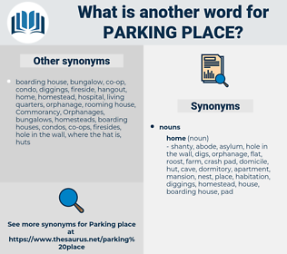 parking place, synonym parking place, another word for parking place, words like parking place, thesaurus parking place