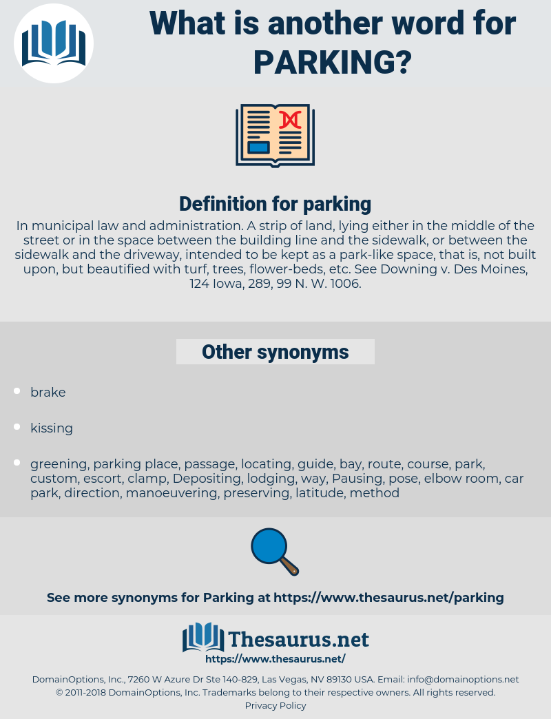 parking, synonym parking, another word for parking, words like parking, thesaurus parking