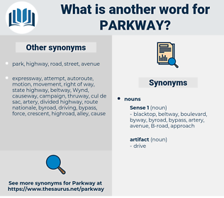 parkway, synonym parkway, another word for parkway, words like parkway, thesaurus parkway