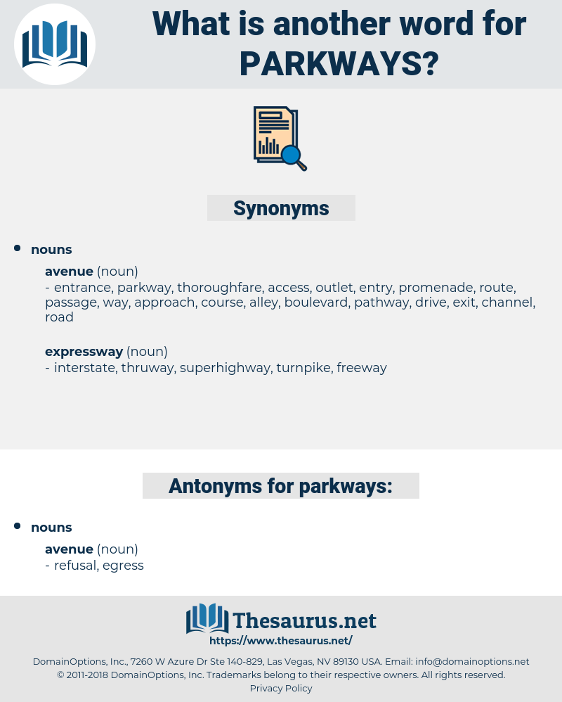 parkways, synonym parkways, another word for parkways, words like parkways, thesaurus parkways