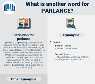parlance, synonym parlance, another word for parlance, words like parlance, thesaurus parlance