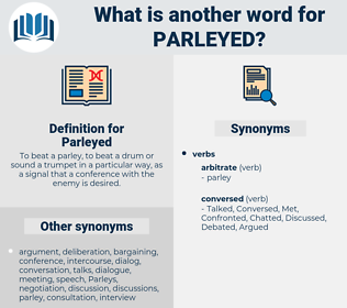 Parleyed, synonym Parleyed, another word for Parleyed, words like Parleyed, thesaurus Parleyed