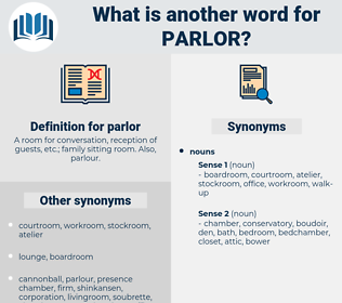 parlor, synonym parlor, another word for parlor, words like parlor, thesaurus parlor